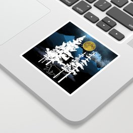 Full Moon Rising II Sticker