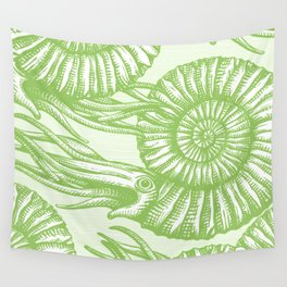 AMMONITE COLLECTION GREEN Wall Tapestry