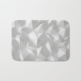 White polygonal landscape Bath Mat