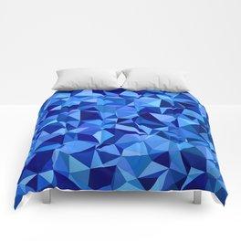 Blue tile mosaic Comforters