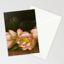 Lotus Flowers by Martin Johnson Heade, 1885 Stationery Cards