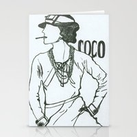 coco Stationery Cards featuring Coco by amargarcia