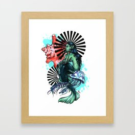 Dear Mermaid... Framed Art Print