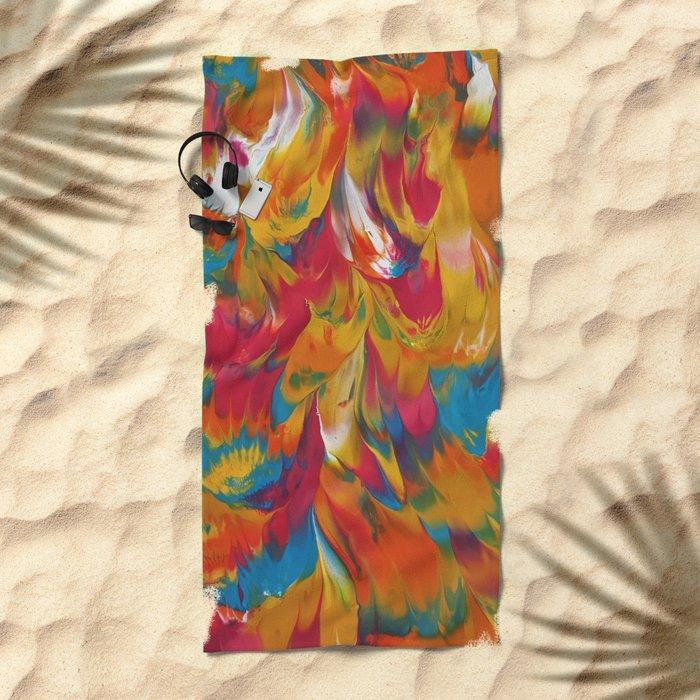 Psychedelic Beach Towel