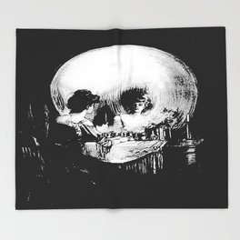 All Is Vanity: Halloween Life, Death, and Existence Throw Blanket