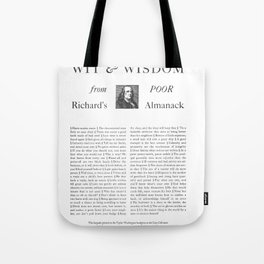 Wit & Wisdom from Poor Richard's Almanack Tote Bag