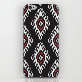 IKAT pattern 01, black iPhone Skin