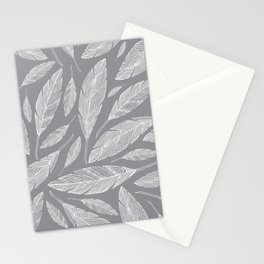 Float Like A Feather - Grey Stationery Cards