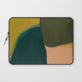 The Colliding Of Two Greens Laptop Sleeve