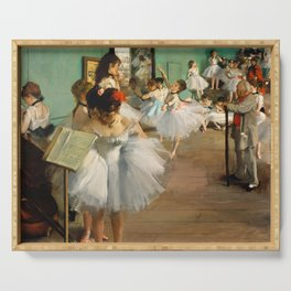 Edgar Degas - The Dance Class Serving Tray
