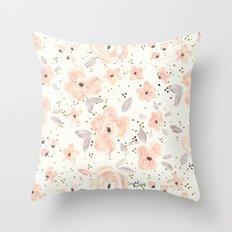 Blush Rosé Sparkle Throw Pillow