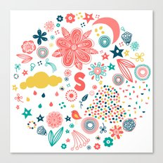 Whimsical Floral Canvas Print