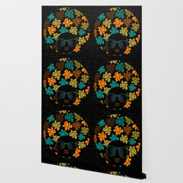 Afro Diva: Fall Colors Brown Gold Teal Wallpaper
