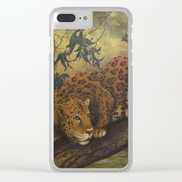 Jungle Cat Clear iPhone Case