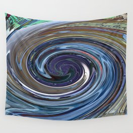 Abstract BLUE Impression Wall Tapestry