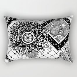 Patches in Time and Space Rectangular Pillow