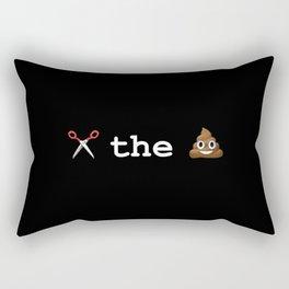 cut the shit Rectangular Pillow