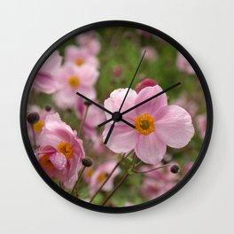 Japanese Anemone Wall Clock
