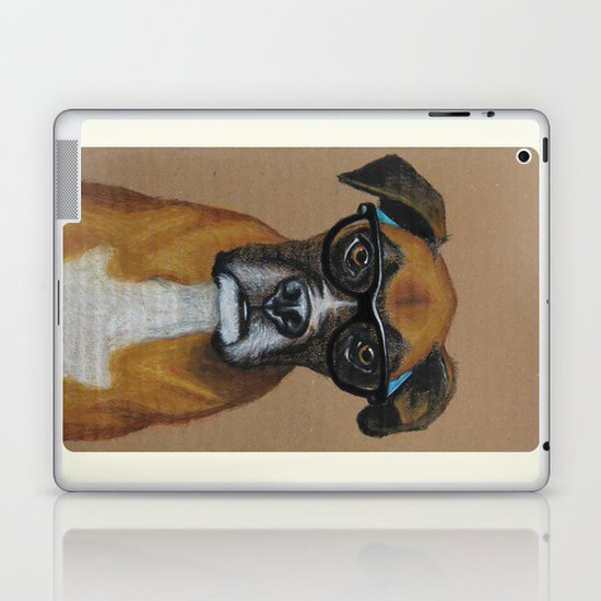 Hipster Boxer dog Laptop & iPad Skin