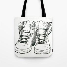 Walking Boots Tote Bag