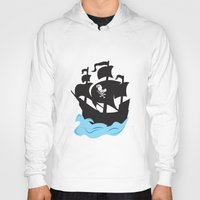 pirate ship Hoodies featuring Pirate Ship by Anthony Rocco