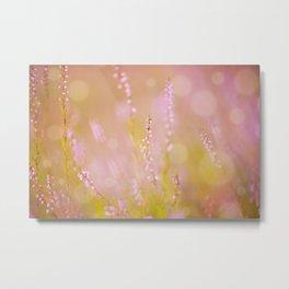 Subtle pink heather macro Metal Print