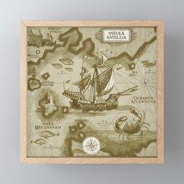 Insula Antillia Framed Mini Art Print