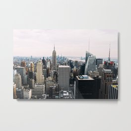 New York skyline from Top of the Rock Metal Print