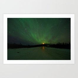 The Aurora is ahead Art Print