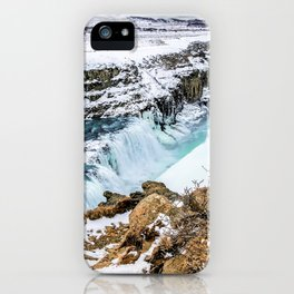 Gulfoss Iceland in Winter iPhone Case