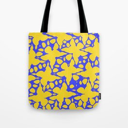 Asymmetry collection: abstract flowers in the water Tote Bag