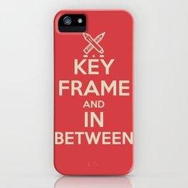 Key Frame and Inbetween iPhone Case