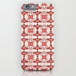 CORAL ABSTRACT LEAVES iPhone Case