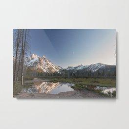 Reflections in Stanley, Idaho Metal Print