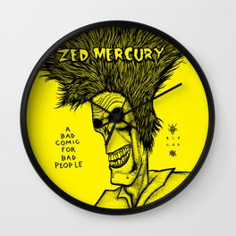 Zed Mercury Cramps tribute Wall Clock