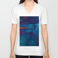 skyline V-neck T-shirts featuring Skyline by Stephen Linhart