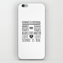 Kindness Is Everything Black Lives Love Is Love iPhone Skin