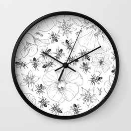Honeybees and co. Wall Clock