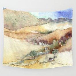 An Arroyo Windmill Wall Tapestry