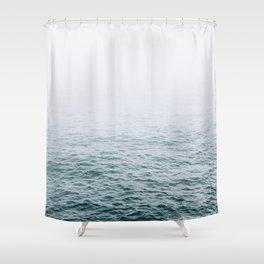 Foggy ocean blues Shower Curtain
