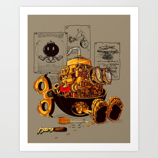 Work of the genius Art Print