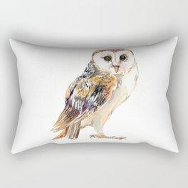 Barn Owl home decor, owl lover gift Rectangular Pillow