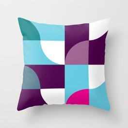Geometric Pattern 5 (blue purple) Throw Pillow