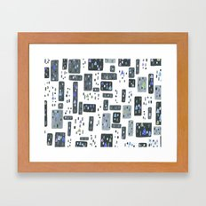 Cityscape, Stained Glass Intervention Framed Art Print