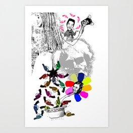 I Shit Andy Warhol 1 - Vertical Version 2010 Art Print