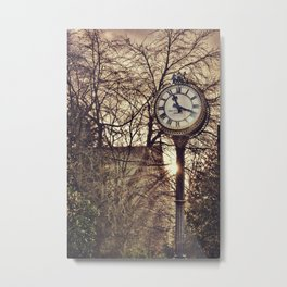 Passing of time. Walking in the streets of Edinburgh, Scotland. Vintage Photography. Metal Print
