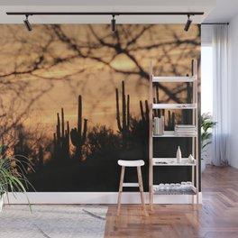 Saguaro Cacti in the Catalinas Wall Mural