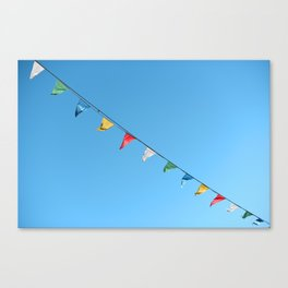 Colorful and minimal party Canvas Print