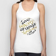 Love Above All Things Unisex Tank Top