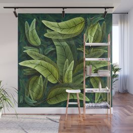 """Retro Tropical Tiki Fantasy 02"" Wall Mural"